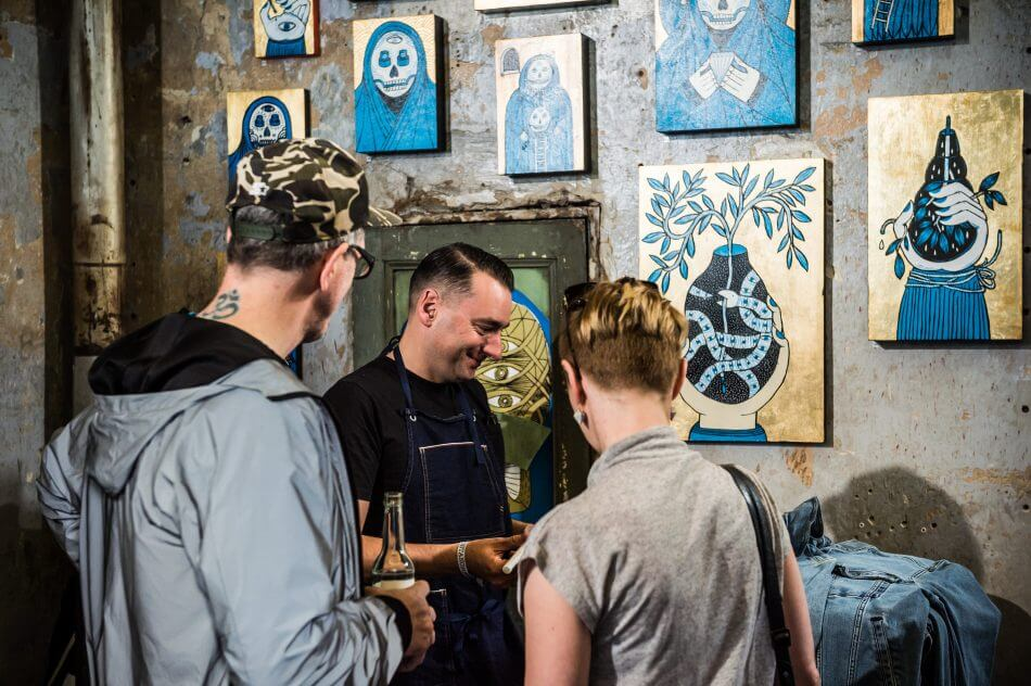 MUSTANG Street Art Lab am 04.07.2017, Seven Star Gallery Berlin